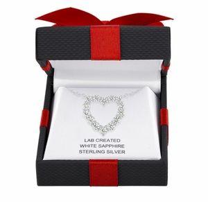 Jewelry - 💥 Lab Created White Sapphire Heart Pendant🔥